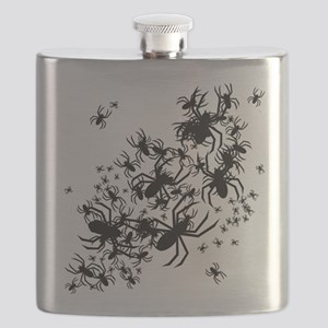Lots Of Spiders Flask