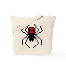 Pixel Black Widow Spider Tote Bag