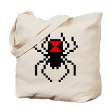 Pixel Black Widow Spider Tote Bag
