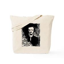 Poe On Raven Pattern Tote Bag