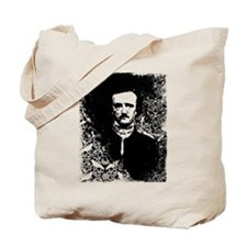 Poe On Raven Pattern Tote Bag