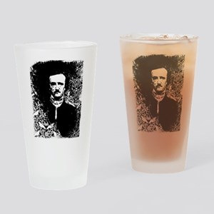 Poe On Raven Pattern Drinking Glass