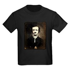 Vintage Poe Portrait Kids Dark T-Shirt