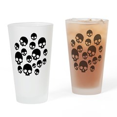 Random Skull Pattern Drinking Glass