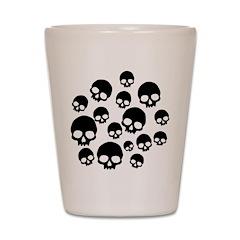 Random Skull Pattern Shot Glass