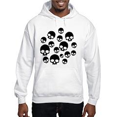 Random Skull Pattern Hoodie
