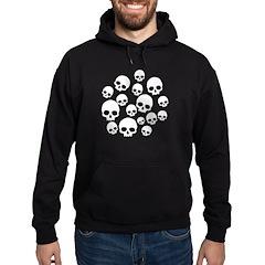 Random Skull Pattern Hoodie (dark)
