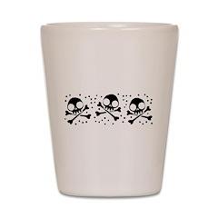 Cute Skulls And Crossbones Shot Glass