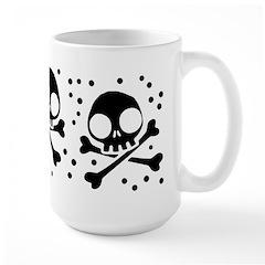 Cute Skulls And Crossbones Large Mug