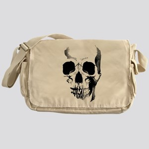 Skull Face Messenger Bag