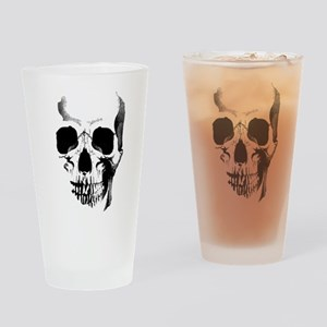 Skull Face Drinking Glass