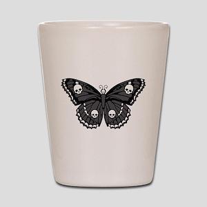 Gothic Skull Butterfly Shot Glass