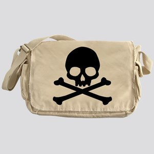 Simple Skull And Crossbones Messenger Bag