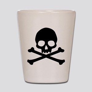 Simple Skull And Crossbones Shot Glass