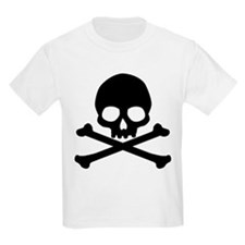 Simple Skull And Crossbones Kids Light T-Shirt