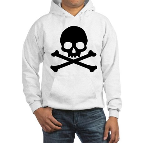 Simple Skull And Crossbones Hooded Sweatshirt