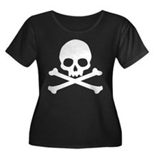 Simple Skull And Crossbones Women's Plus Size Scoo