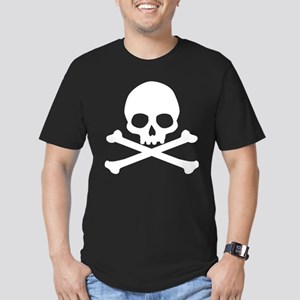 Simple Skull And Crossbones Men's Fitted T-Shirt (