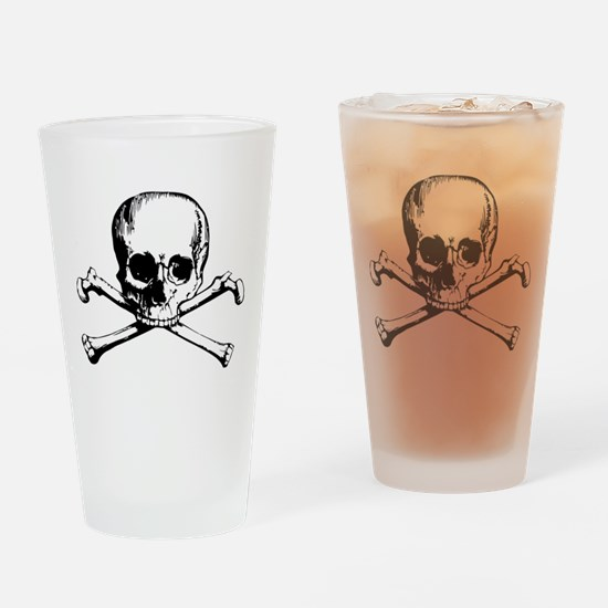 Classic Skull And Crossbones Drinking Glass