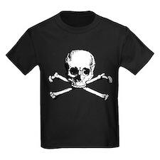 Classic Skull And Crossbones Kids Dark T-Shirt