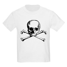 Classic Skull And Crossbones Kids Light T-Shirt