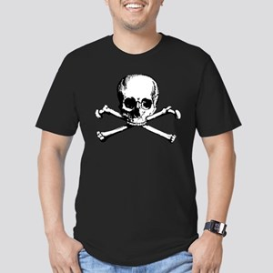 Classic Skull And Crossbones Men's Fitted T-Shirt