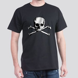 Classic Skull And Crossbones Dark T-Shirt