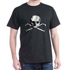 Classic Skull And Crossbones Dark T-Shirt