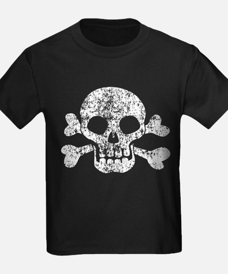 Worn Skull And Crossbones T
