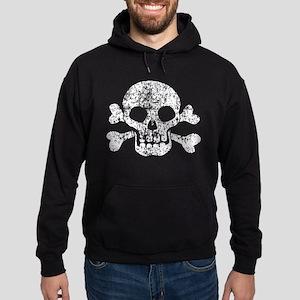 Worn Skull And Crossbones Hoodie (dark)