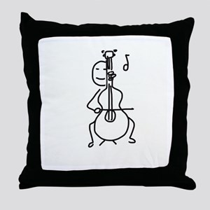 Palo Plays the Cello Throw Pillow