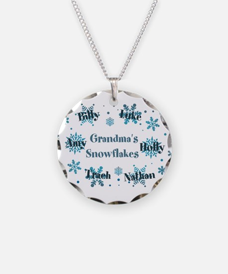 Custom kids snowflakes Necklace