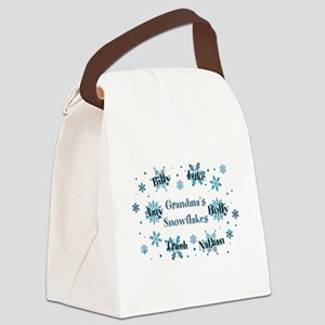 Custom kids snowflakes Canvas Lunch Bag