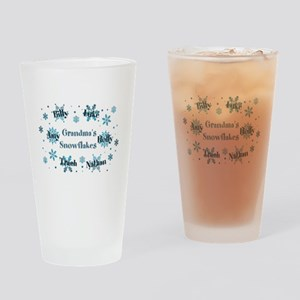 Custom kids snowflakes Drinking Glass