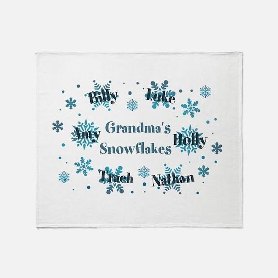 Custom kids snowflakes Throw Blanket