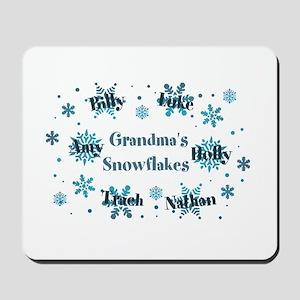 Custom kids snowflakes Mousepad