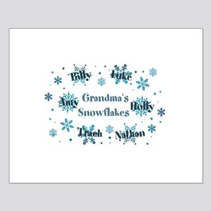 Custom kids snowflakes Small Poster