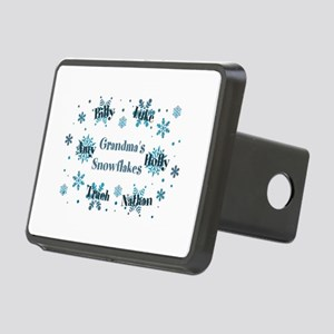 Custom kids snowflakes Rectangular Hitch Cover