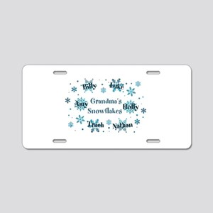 Custom kids snowflakes Aluminum License Plate