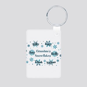 Custom kids snowflakes Aluminum Photo Keychain