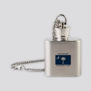South Carolina the 8th State Flask Necklace