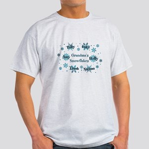 Custom kids snowflakes Light T-Shirt