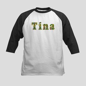 Tina Floral Kids Baseball Jersey