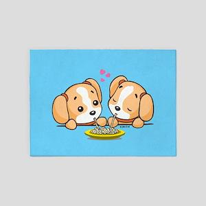 Cute Doggies 5'x7'Area Rug