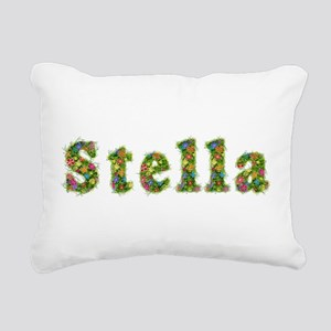 Stella Floral Rectangular Canvas Pillow