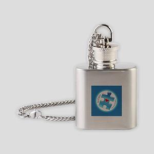Autism Awareness (B2b) Flask Necklace