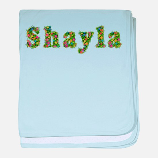 Shayla Floral baby blanket