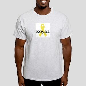 Yellow Ribbon: Royal Ash Grey T-Shirt
