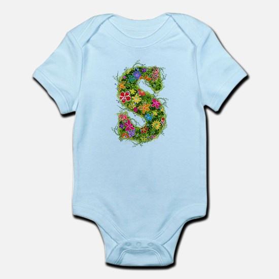 S Floral Infant Bodysuit