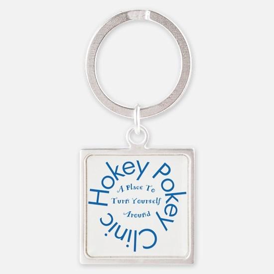 Hokey Pokey Clinic Square Keychain